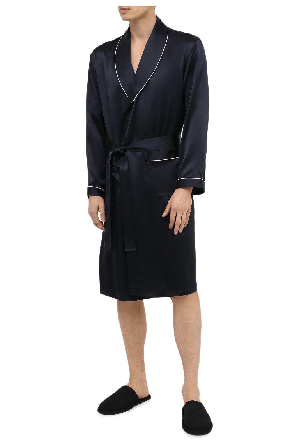 Мужского домашние туфли BOSS черного цвета, арт. 50445700 | Фото 2