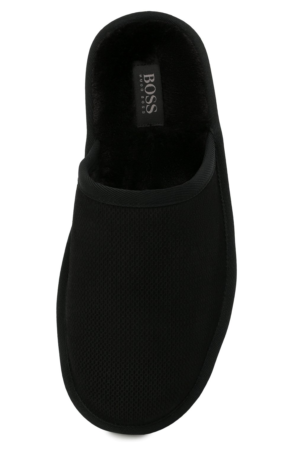 Мужского домашние туфли BOSS черного цвета, арт. 50445700 | Фото 5