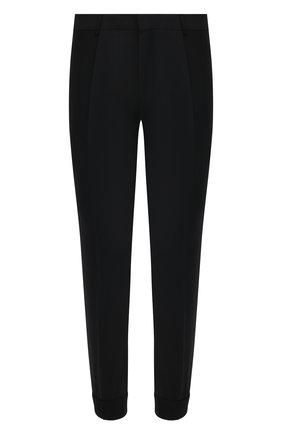 Мужские шерстяные брюки HUGO черного цвета, арт. 50444904 | Фото 1 (Стили: Кэжуэл; Случай: Повседневный; Материал внешний: Шерсть; Длина (брюки, джинсы): Стандартные)