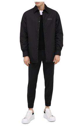 Мужские шерстяные брюки HUGO черного цвета, арт. 50444904 | Фото 2 (Стили: Кэжуэл; Случай: Повседневный; Материал внешний: Шерсть; Длина (брюки, джинсы): Стандартные)