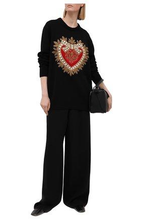 Женский кашемировый свитер DOLCE & GABBANA черного цвета, арт. FX199Z/JAW4D | Фото 2