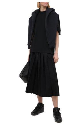Женские кожаные кеды comme des garcons x nike COMME DES GARCONS черного цвета, арт. PF-K103-001 | Фото 2