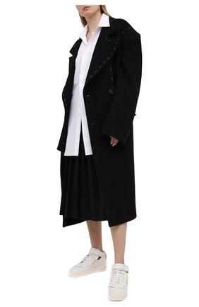 Женские кожаные кеды comme des garcons x nike COMME DES GARCONS белого цвета, арт. GF-K108-001 | Фото 2