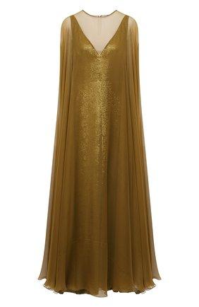 Женское платье VALENTINO золотого цвета, арт. VB3VDBN52UP | Фото 1
