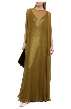 Женское платье VALENTINO золотого цвета, арт. VB3VDBN52UP | Фото 2