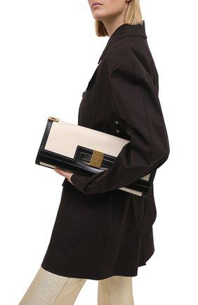 Женская сумка 1945 BALMAIN черно-белого цвета, арт. VN1S609/LMSX | Фото 2