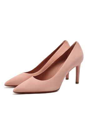 Женские замшевые туфли SANTONI розового цвета, арт. WDPM59356HA2TMGDP40   Фото 1