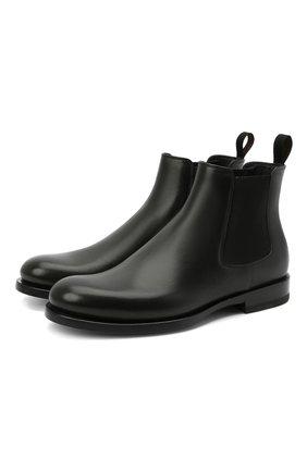 Женские кожаные ботинки SANTONI черного цвета, арт. WTKM58071BA3NLGAN01 | Фото 1