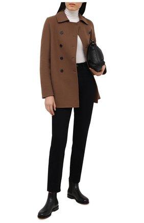 Женские кожаные ботинки SANTONI черного цвета, арт. WTKM58071BA3NLGAN01 | Фото 2