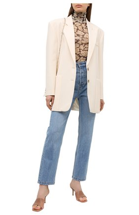 Женские кожаные мюли GIANVITO ROSSI бежевого цвета, арт. G19710.70RIC.NAPPRAL | Фото 2