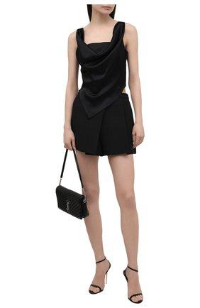 Женские кожаные босоножки TOM FORD черного цвета, арт. W2436T-LKD002 | Фото 2