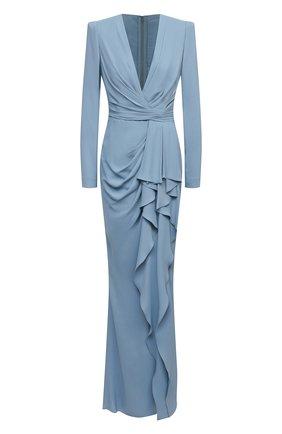 Женское платье из вискозы ZUHAIR MURAD синего цвета, арт. DRF21023/CRCA008 | Фото 1
