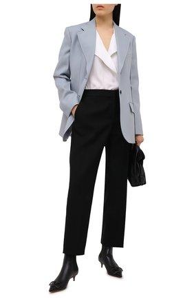 Женские кожаные ботильоны valentino garavani vlogo VALENTINO черного цвета, арт. VW2S0Y77/MZF | Фото 2