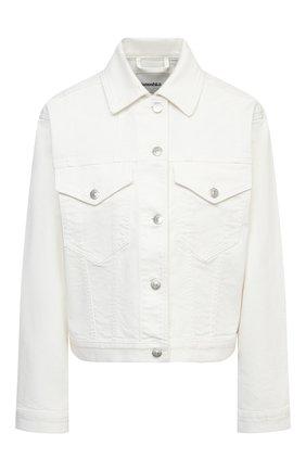 Женская джинсовая куртка NANUSHKA белого цвета, арт. MAREN_WHITE_C0MF0RT STRETCH DENIM | Фото 1