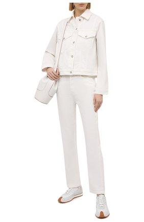 Женская джинсовая куртка NANUSHKA белого цвета, арт. MAREN_WHITE_C0MF0RT STRETCH DENIM | Фото 2