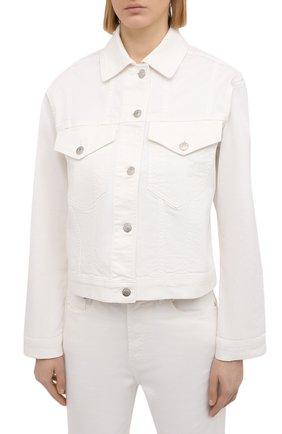 Женская джинсовая куртка NANUSHKA белого цвета, арт. MAREN_WHITE_C0MF0RT STRETCH DENIM | Фото 3