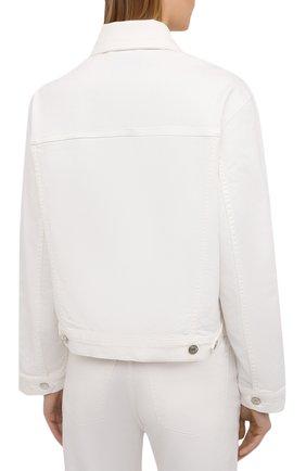 Женская джинсовая куртка NANUSHKA белого цвета, арт. MAREN_WHITE_C0MF0RT STRETCH DENIM | Фото 4