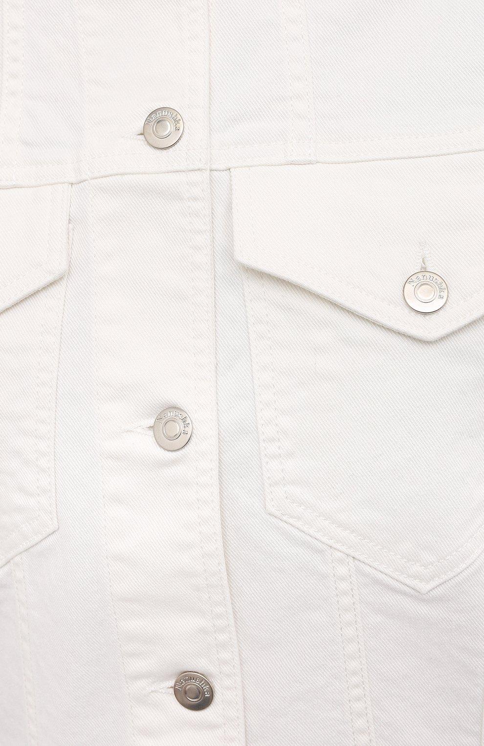 Женская джинсовая куртка NANUSHKA белого цвета, арт. MAREN_WHITE_C0MF0RT STRETCH DENIM | Фото 5