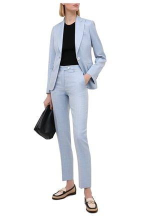 Женские брюки KITON голубого цвета, арт. D49109K09T23 | Фото 2