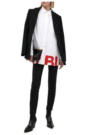 Женская хлопковая рубашка BURBERRY белого цвета, арт. 8038143 | Фото 2