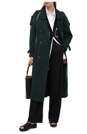 Женский кардиган BURBERRY зеленого цвета, арт. 8037230 | Фото 2