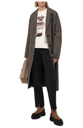 Женский хлопковый свитер POLO RALPH LAUREN кремвого цвета, арт. 211827358 | Фото 2