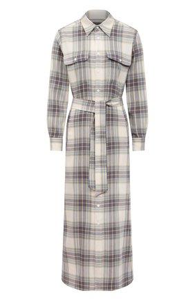 Женское платье из хлопка и вискозы POLO RALPH LAUREN серого цвета, арт. 211800586 | Фото 1