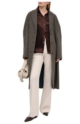 Женская шелковая рубашка POLO RALPH LAUREN коричневого цвета, арт. 211798122 | Фото 2