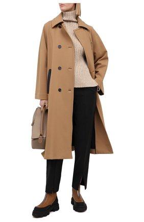 Женский свитер из шерсти и кашемира POLO RALPH LAUREN коричневого цвета, арт. 211780367 | Фото 2