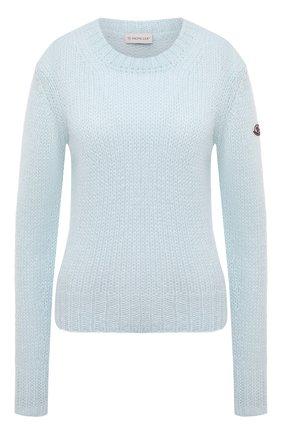 Женский свитер MONCLER голубого цвета, арт. G1-093-9C771-00-A9441 | Фото 1