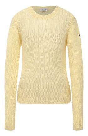 Женский свитер MONCLER желтого цвета, арт. G1-093-9C771-00-A9441   Фото 1