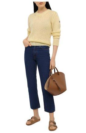 Женский свитер MONCLER желтого цвета, арт. G1-093-9C771-00-A9441   Фото 2