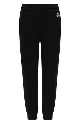 Женские хлопковые джоггеры MONCLER черного цвета, арт. G1-093-8H742-00-809LC | Фото 1