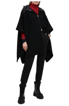 Женские хлопковые джоггеры MONCLER черного цвета, арт. G1-093-8H742-00-809LC | Фото 2