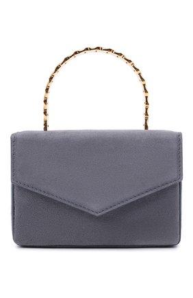 Женская сумка pernille super mini AMINA MUADDI серого цвета, арт. PERNILLE SUPER MINI/SUEDE HANDLE   Фото 1 (Сумки-технические: Сумки top-handle; Материал: Натуральная кожа; Размер: mini)