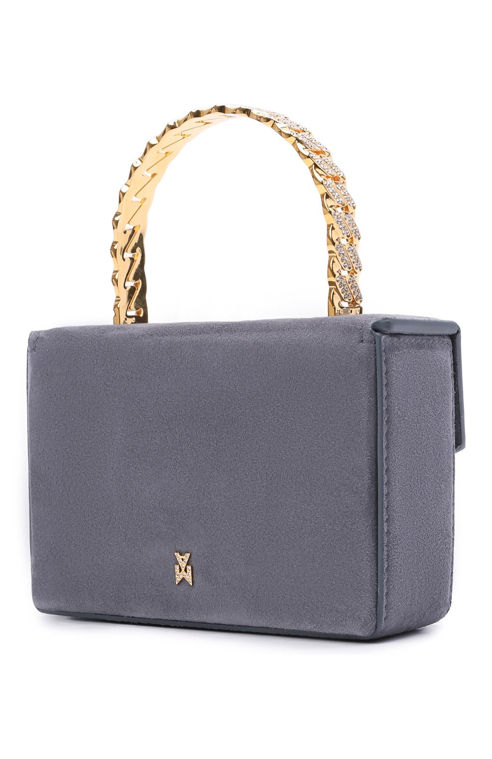 Женская сумка pernille super mini AMINA MUADDI серого цвета, арт. PERNILLE SUPER MINI/SUEDE HANDLE   Фото 3 (Сумки-технические: Сумки top-handle; Материал: Натуральная кожа; Размер: mini)