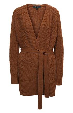 Женский кашемировый кардиган THEORY коричневого цвета, арт. K1118732 | Фото 1