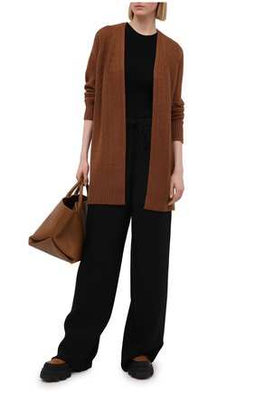 Женский кашемировый кардиган THEORY коричневого цвета, арт. K1118732 | Фото 2