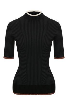 Женский пуловер из вискозы THEORY черного цвета, арт. K1116714 | Фото 1