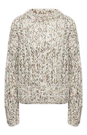 Женский шерстяной свитер THEORY коричневого цвета, арт. K1111703 | Фото 1