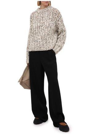 Женский шерстяной свитер THEORY коричневого цвета, арт. K1111703 | Фото 2