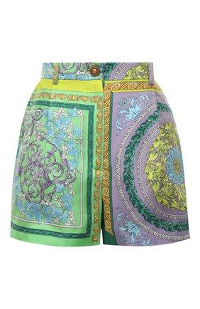 Женские шелковые шорты VERSACE разноцветного цвета, арт. A85704/1F00385 | Фото 1