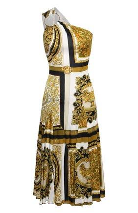 Женское платье из вискозы VERSACE золотого цвета, арт. A88501/1F00454 | Фото 1