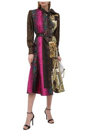 Женское шелковое платье VERSACE разноцветного цвета, арт. A88647/1F00456 | Фото 2
