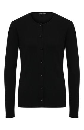 Женский кардиган из кашемира и шелка TOM FORD черного цвета, арт. CAK314-YAX087 | Фото 1