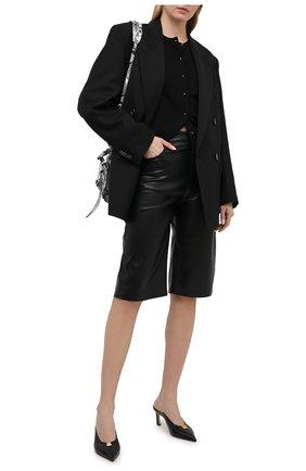 Женский кардиган из кашемира и шелка TOM FORD черного цвета, арт. CAK314-YAX087 | Фото 2