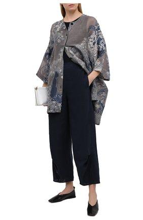Женские льняные брюки GIORGIO ARMANI синего цвета, арт. 1SHPP0HA/T022F | Фото 2