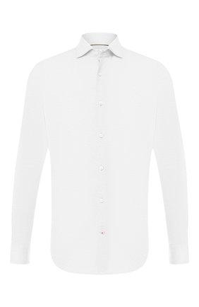 Мужская хлопковая рубашка LORO PIANA белого цвета, арт. FAI5693   Фото 1