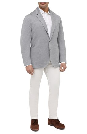 Мужская хлопковая рубашка LORO PIANA белого цвета, арт. FAI5693   Фото 2