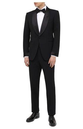 Мужские кожаные оксфорды BRUNELLO CUCINELLI черного цвета, арт. MZUSHAK937 | Фото 2 (Материал внутренний: Натуральная кожа; Материал внешний: Кожа; Стили: Классический; Мужское Кросс-КТ: Вечерняя обувь)